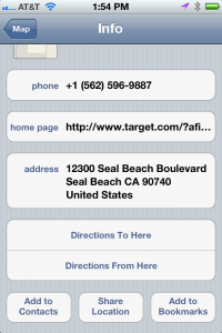 apple iphone 4s use maps to add location based as contact