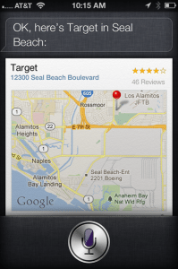 ask siri as virtual assistant to find a location for you