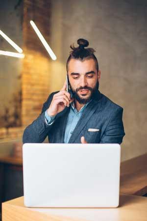 ManBun Millennial Entrepreneur
