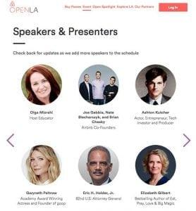 Olga Mizrahi Conference Speaker for AirBnb Open Gig Economy