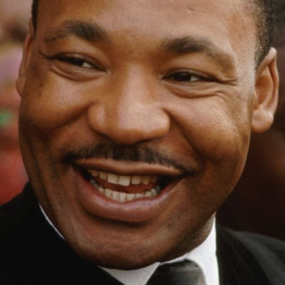 Martin Luther King Jr. smiling