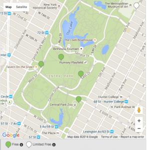 NYC central park wifi