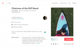 Learn from Olga's Experience: SUP!