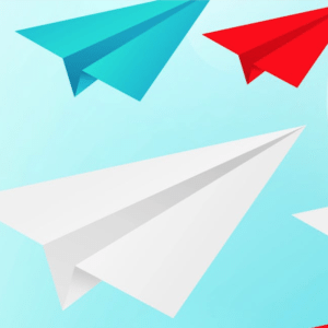 paper airplanes graphic for freelancing trends 2019