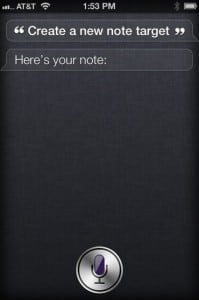 apple iphone 4s siri create a list