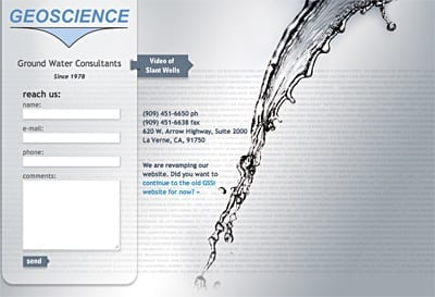 Geoscience Water One Page Website