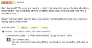 yelp review how to respond