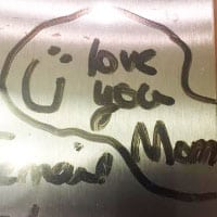 I LOVE YOU MOM! Hand written letter from daughter