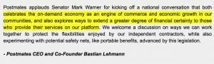 Gig Economy Friends with Benefits: Postmates CEO Bastian Lehmann