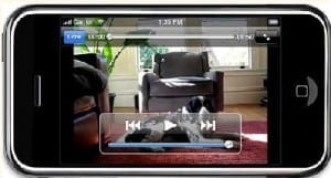 video on mobile phone